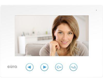 Monitor EURA VDA-06A3 Biały, kolor 7″